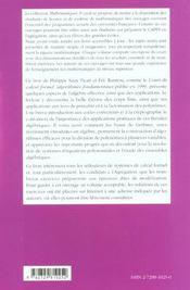 Cours De Calcul Formel Corps Finis Systemes Polynomiaux Applications Cours Et Exercices Corriges - 4ème de couverture - Format classique