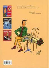 Monsieur jean t.2 ; les nuits les plus blanches - 4ème de couverture - Format classique