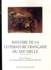 Histoire de la littérature française du xix siècle - Couverture - Format classique