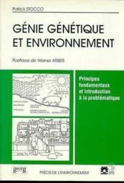 Genie Genetique Et Environement - Couverture - Format classique