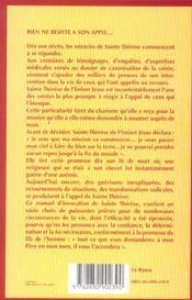 Par Le Pouvoir De Sainte Therese - 4ème de couverture - Format classique