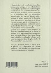 Francois Pluchart ; Une Anthologie - 4ème de couverture - Format classique