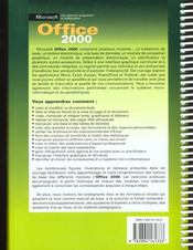 Microsoft Office 2000 - 4ème de couverture - Format classique