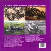 Cb 750 Honda - 4ème de couverture - Format classique