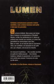 Lumen - 4ème de couverture - Format classique