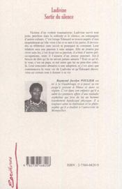 Ludivine Sortir Du Silence - 4ème de couverture - Format classique