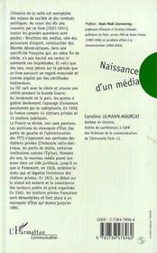 Naissance d'un média ; histoire de la radio en France (1921-1931) - 4ème de couverture - Format classique