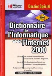 Dictionnaire de l'informatique et de l'Internet - Intérieur - Format classique