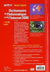 Dictionnaire de l'informatique et de l'Internet - 4ème de couverture - Format classique