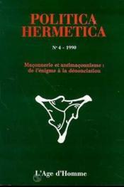 P4 Politica Hermetica 1990 - Couverture - Format classique