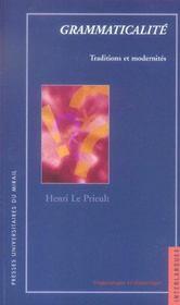 Grammaticalite : Traditions Et Modernites - Intérieur - Format classique