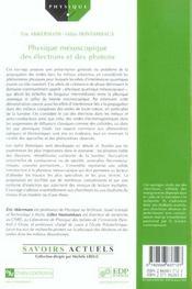 Physique mésoscopique des électrons et des photons - 4ème de couverture - Format classique