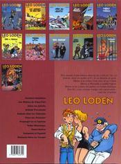 Léo Loden t.11 ; diamants noirs sur canapés - 4ème de couverture - Format classique
