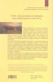 Civils, citoyens-soldats et militaires dans l'état-nation, 1789-1815 - 4ème de couverture - Format classique