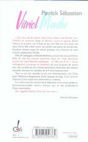 Vitriol Menthe - 4ème de couverture - Format classique