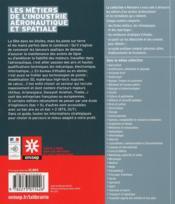 Les métiers des industries aéronautiques et spatiales - 4ème de couverture - Format classique