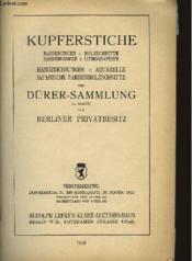 Kupferstiche - Dürer-Sammlung - Couverture - Format classique