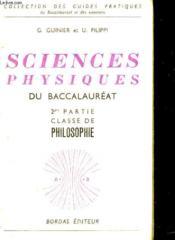 Sciences Physiques Du Baccalaureat - Couverture - Format classique