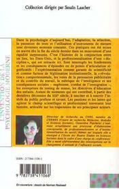 Invention De La Psychologie Moderne - 4ème de couverture - Format classique