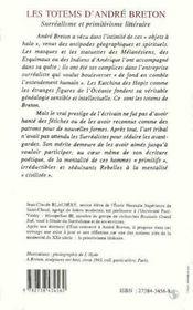 Les Totems D'Andre Breton ; Surrealisme Et Primitivisme Litteraire - 4ème de couverture - Format classique