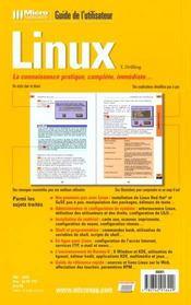 Guide utilisateur linux - 4ème de couverture - Format classique