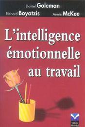 L'intelligence emotionnelle au travail - Intérieur - Format classique