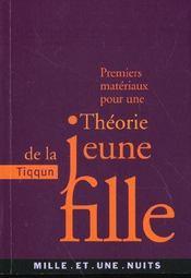Premiers Materiaux Pour Une Theorie De La Jeune Fille - Intérieur - Format classique