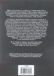 Sois nègre et tais-toi ! - 4ème de couverture - Format classique
