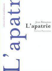 L'Apatrie - Intérieur - Format classique
