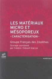 Les matériaux micro et mésoporeux ; caractérisation - Intérieur - Format classique