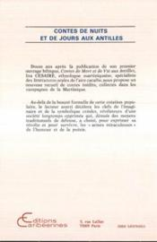 Contes de nuit et de jours aux Antilles - 4ème de couverture - Format classique