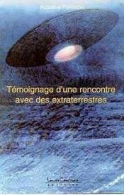 Temoignage Rencontre Avec Extraterrestre - Couverture - Format classique
