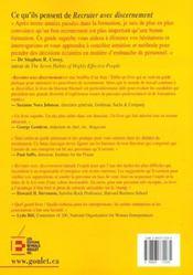 45 Methodes Efficaces Pour Recruter Avecdiscernement - 4ème de couverture - Format classique