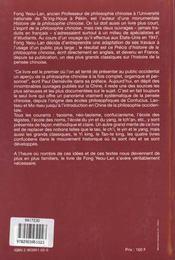 Precis D'Histoire De La Philosophie Chinoise - 4ème de couverture - Format classique