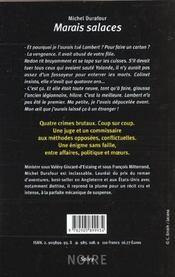 Marais salaces - 4ème de couverture - Format classique