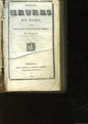 Nouvelles Heures Des Dames, Avec L'Office Des Dimanches Et Fetes - Couverture - Format classique