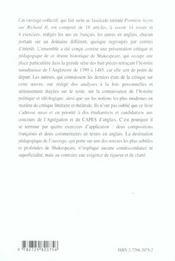 Richard Ii William Shakespeare Capes/Agregation Anglais - 4ème de couverture - Format classique