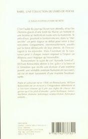 Le Nageur Dans La Mer Secrete Babel 532 - 4ème de couverture - Format classique
