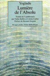 Lumière de l'absolu - Couverture - Format classique