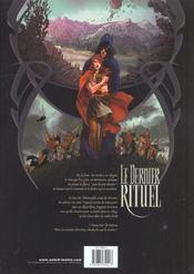 Le Dernier Rituel T.1 ; La Prophetie Des Amants - 4ème de couverture - Format classique
