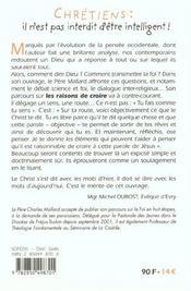Chretiens : Il N'Est Pas Interdit D'Etre Intelligent - 4ème de couverture - Format classique