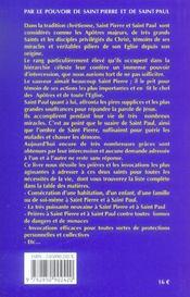 Par Le Pouvoir De St Pierre Et St Paul - 4ème de couverture - Format classique