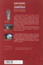 Guide europeen des chemins de compostelle - 4ème de couverture - Format classique