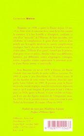 L'Incendie - 4ème de couverture - Format classique