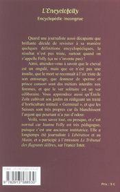 L'Encyclofolly ; Encyclopedie Incongrue - 4ème de couverture - Format classique