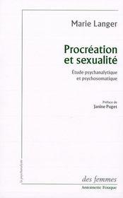 Maternité et sexualité ; étude psychanalitique et psychosomatique - Intérieur - Format classique