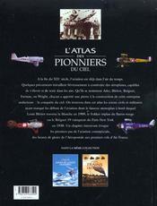 L'Atlas Des Pionniers Du Ciel - 4ème de couverture - Format classique