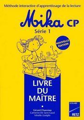 Mika cp ; série 1 ; livre du maître - Intérieur - Format classique