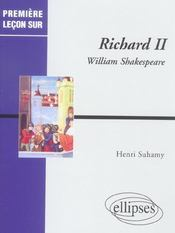 Richard Ii William Shakespeare - Intérieur - Format classique
