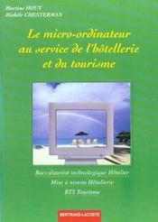 Le micro-ordinateur au service de l'hotellerie et du tourisme - Intérieur - Format classique